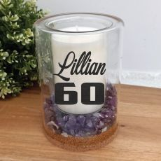 60th Patchouli Lavender Candle With Gemchips