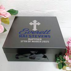 Baptism Keepsake Box Black Hamper Gift Box