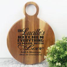 Made with Love Acacia Display Board