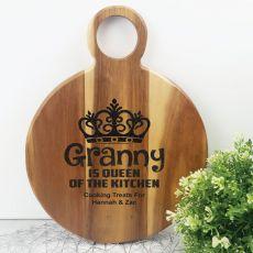 Queen Of The Kitchen Acacia Board - Grandma