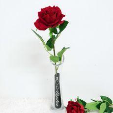 Scented Everlasting Red Rose in Bud Vase