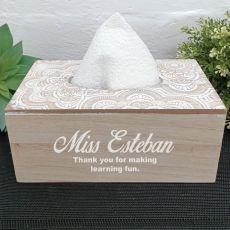 Personalised Teacher Tissue Box Cover