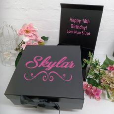 18th Birthday Keepsake Hamper Gift Box Black