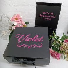 Bridesmaid Proposal Keepsake Gift Box Black