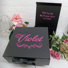 Flower Girl Proposal Keepsake Gift Box Black