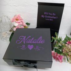 Godmother Proposal Keepsake Gift Box Black