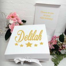 40th Birthday Keepsake Hamper Gift Box White
