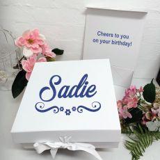 Birthday Keepsake Hamper Gift Box White