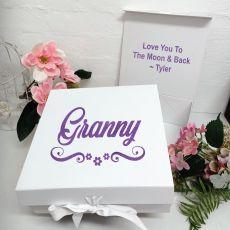 Grandma Keepsake Gift Box White