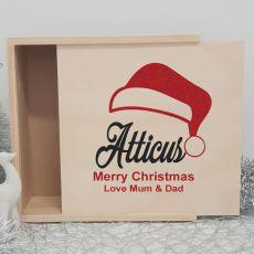 Personalised Wooden Christmas Box Large - Santa