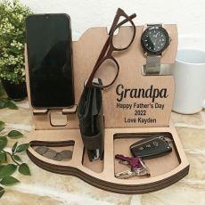 Grandpa Personalised Phone Docking Station Desk Organiser