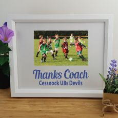 Coach Personalised Photo Frame 4x6 Glitter White