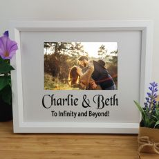 Personalised Love Photo Frame 4x6 Glitter White