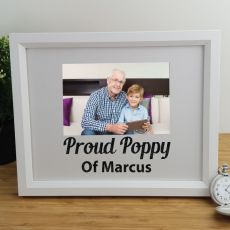 Pop Personalised Photo Frame 4x6 Glitter White