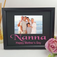 Personalised Nan Glitter Photo Frame - Black