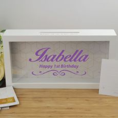1st Birthday Personalised Message Box Guest Book Keepsake