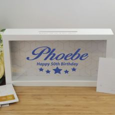 50th Birthday Personalised Message Box Guest Book Keepsake