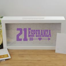 Personalised 21st Birthday Message Box Guest Book