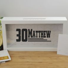 Personalised 30th Birthday Message Box Guest Book