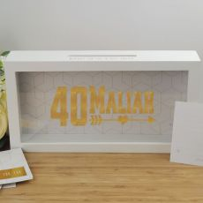 Personalised 40th Birthday Message Box Guest Book
