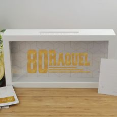Personalised 80th Birthday Message Box Guest Book