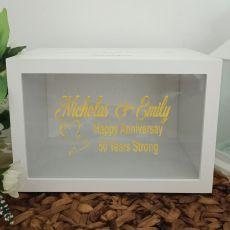 Personalised Anniversary Wishing Well Card Box