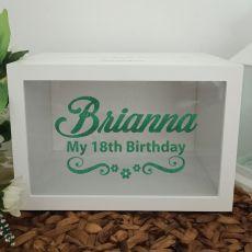 Personalised 18th Birthday Wishing Well Card Box