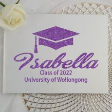 Graduation Guest Book Keepsake Album - White A5
