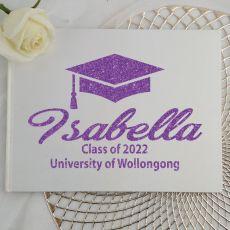 Graduation Guest Book Keepsake Album - White A5