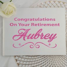 Retirement Guest Book Keepsake Album - White A5