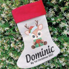 Personalised Christmas Stocking - Baby Reindeer
