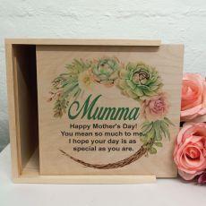 Mum Personalised Wooden Gift Box - Succulent