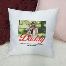 Dad Personalised Photo Cushion Cover