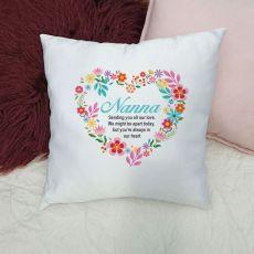 Nana Cushion Cover - Floral Heart