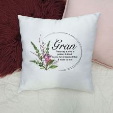Personalised Grandma Cushion Cover - Spring Frame