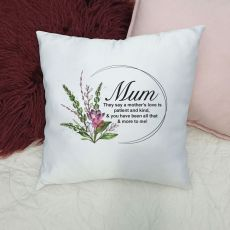 Personalised Mum Cushion Cover - Spring Frame