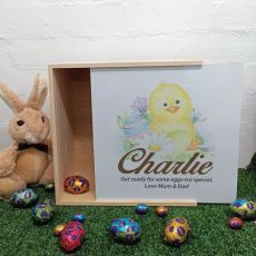 Family Wooden Easter Box  - Easter Chicken