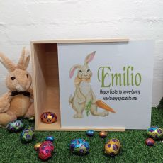 Large Family Easter Box White Lid- Rabbit Carrot