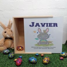 Personalised Family Easter Box White Lid - Tribal Bunny