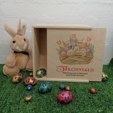 Personalised Wooden Easter Box Medium - Easter Basket