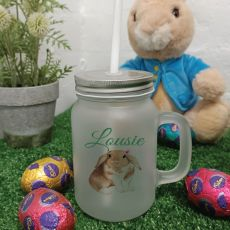 Easter Mason Drink Jar Mug w/straw - Watercolour