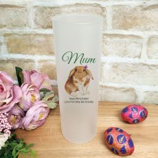 Mum Easter Frosted Glass Vase - Bunny
