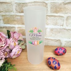 Mum Easter Frosted Glass Vase - FloralBunny