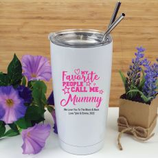 Mums Favourite People Tumbler Travel Mug 600ml