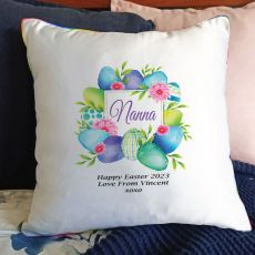 Nana Easter Cushion Cover - Blue Eggs