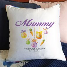 Mum Easter Cushion Cover - Hanging Eggs