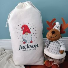 Personalised Christmas Sack 80cm  - Gnome