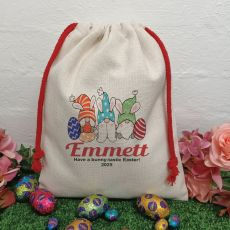 Personalised Easter Sack Hunt Bag 40cm  - Gnome