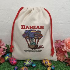 Personalised Easter Sack Hunt Bag 40cm  - Egg Balloon