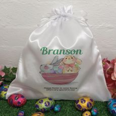 Personalised Easter Sack Hunt Bag 35cm  - Bunny Basket